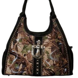 Montana West Spiritual Forest Print Shoulder Bag